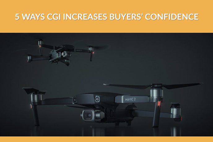 3D Product Visualization of a Camera Drone