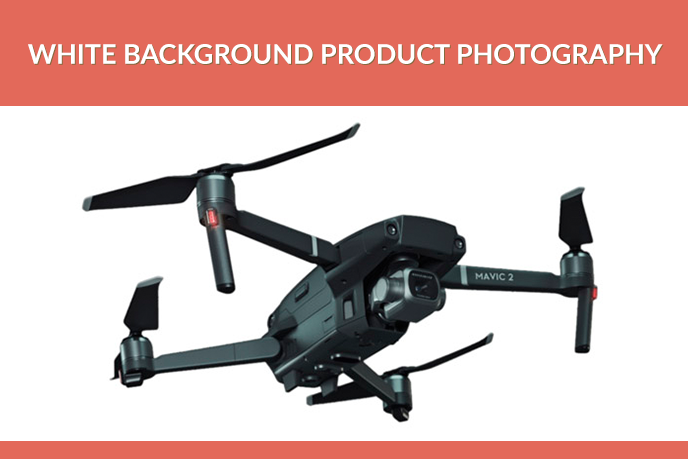 White Background Product Image of a Drone